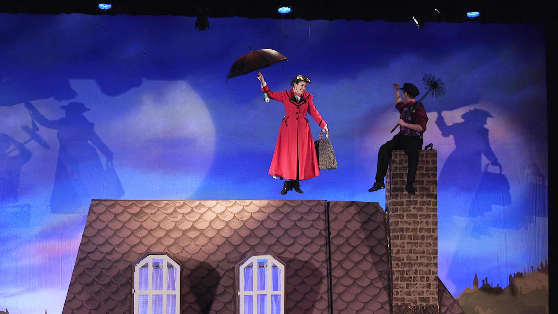 Mary Poppins takes flight in Franklin High School's spring musical.