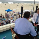 NJ Today's Managing Editor Mike Schneider interviews Governor Chris Christie May 24th in Point Pleasant