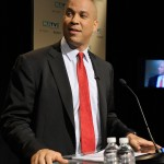 August 5, 2013 - Newark Mayor Cory Booker at the U.S. Senate Democratic Primary Debate televised by NJTV at Montclair State University.