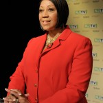 August 5, 2013 –  Assembly Speaker Sheila Oliver at the U.S. Senate Democratic Primary debate televised on NJTV from Montclair State University in New Jersey. (Joe Sinnott/NJTV)