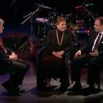Sandy Stewart and Bill Charlap are interviewed by Ted Chapin, host of NJTV's AMERICAN SONGBOOK AT NJPAC series. Photo: NJTV