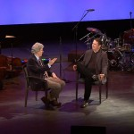 Performer Tom Wopat is interviewed by Ted Chapin, host of NJTV;s AMERICAN SONGBOOK AT NJPAC. Photo credit: Paul Wusow for NJPAC