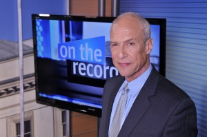 Michael Aron, host of NJTV's On the Record series. Photo by Joseph Sinnott/NJTV.