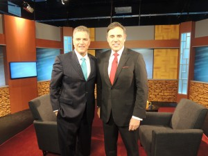 NJTV News Managing Editor Mike Schneider goes One-on-One with Steve Adubato