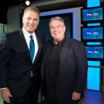 Steve  Adubato and Elvis Duran on set of One on One with Steve Adubato